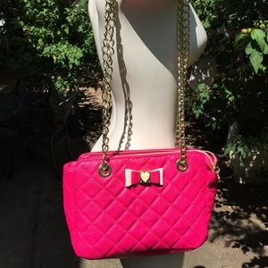 Betsey Johnson - Hot Pink Purse OS
